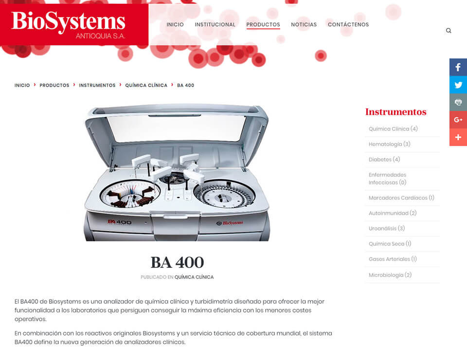 Biosystems Product Details