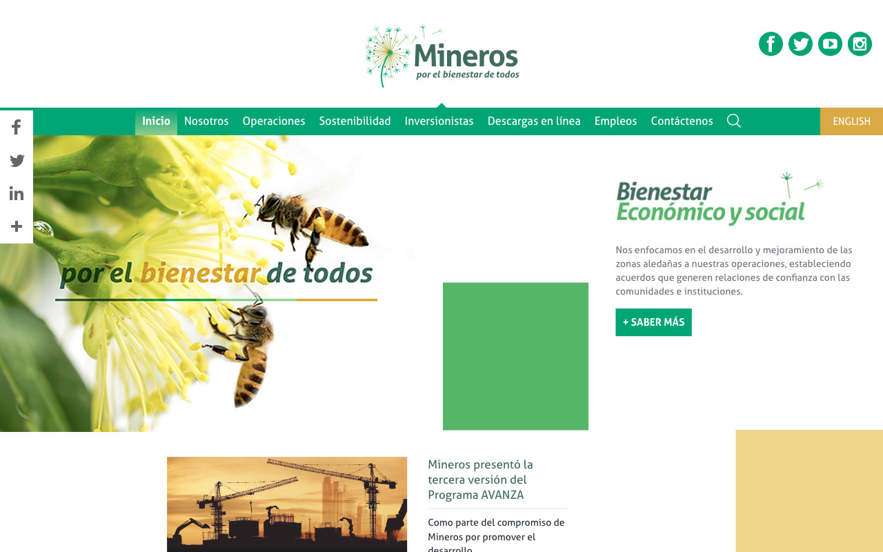 Mineros Home Grid