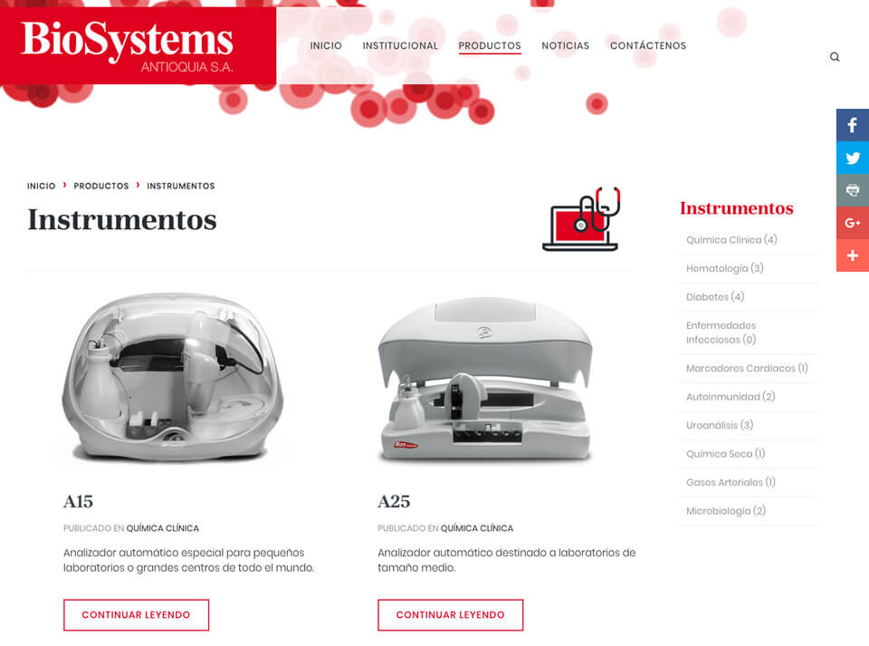 Biosystems Product Category